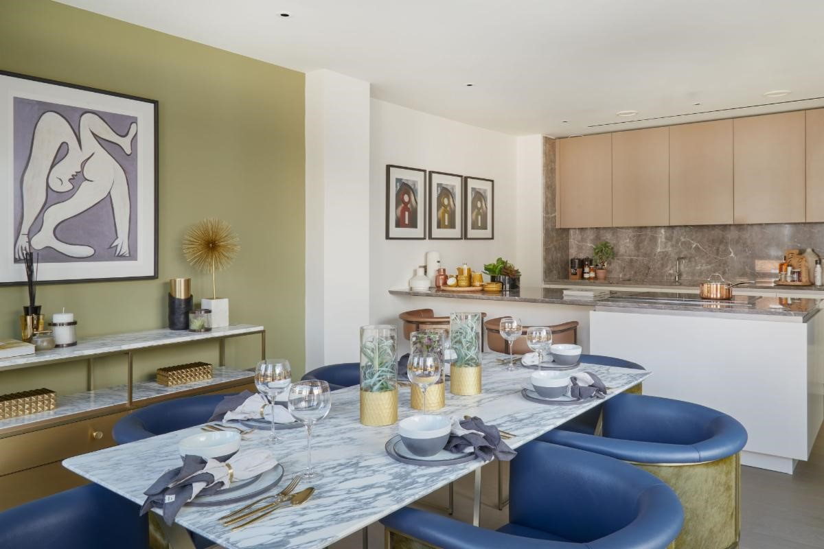 Lyons Place in Maida Vale attracts attention with bold, contemporary interior design from Alexander James Interiors