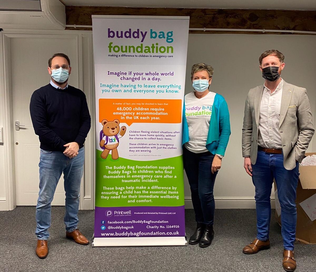 Caring start-up supports children in women's refuge with Buddy Bag pack
