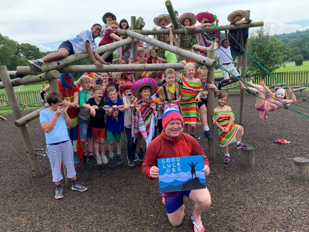 Christ College Brecon support former pupil's 5 Peaks Challenge