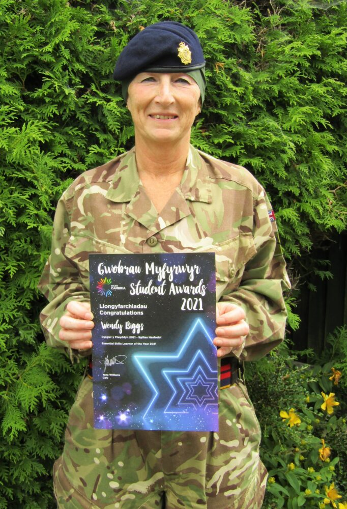 Soldiers march to promotion after achieving Welsh college qualifications