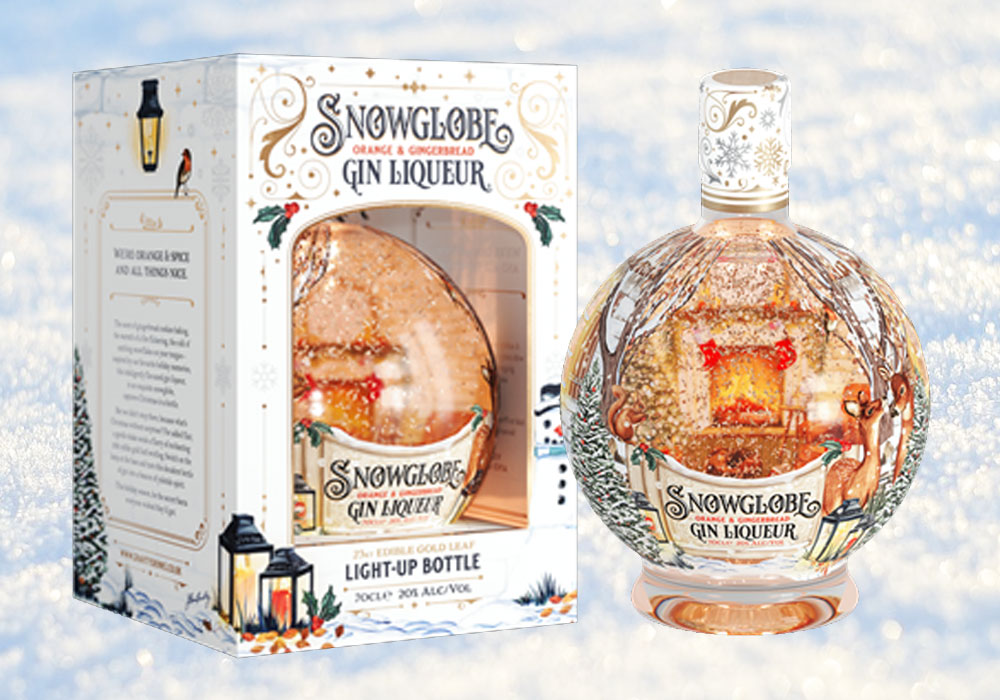 Snow Globe Gin Liqueur returns for Christmas 2021 with a new look